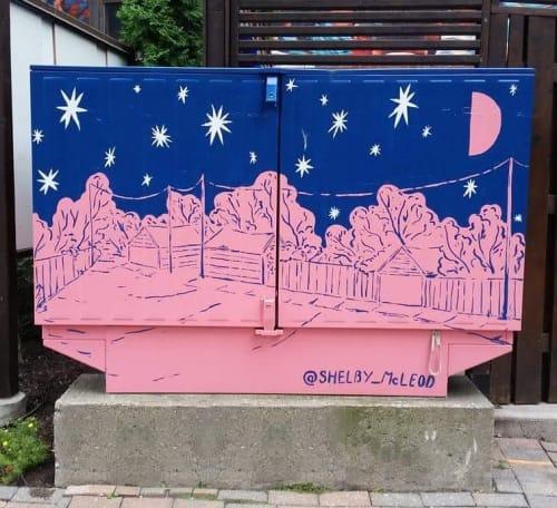 Street Murals by Shelby McLeod seen at Crawford Street, Toronto - Bellbox Mural