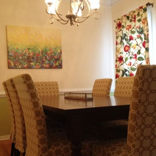 """Paintings by Julia Di Sano seen at Private Residence, Mechanicsville - """"Nature's Living Room"""" Fine Art Gallery Canvas Print, at Private Residence"""