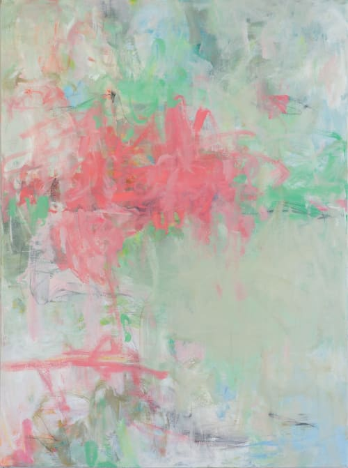 Paintings by Elizabeth Bernheisel seen at Creator's Studio, Delray Beach - Fragrance of Spring