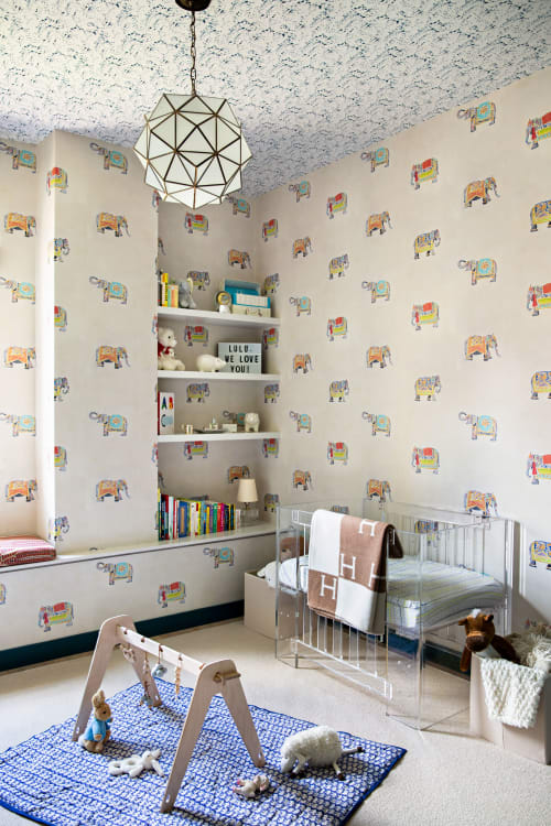 Wallpaper by Temple Studio seen at Private Residence, Brooklyn, Brooklyn - Wallpaper