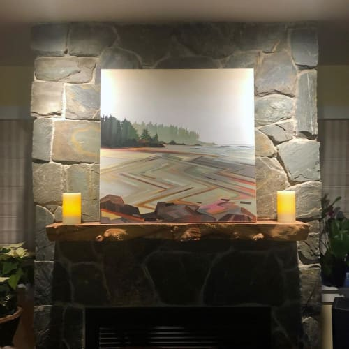 Paintings by Fiona Dalrymple seen at Private Residence, Vancouver - A Stone's Throw
