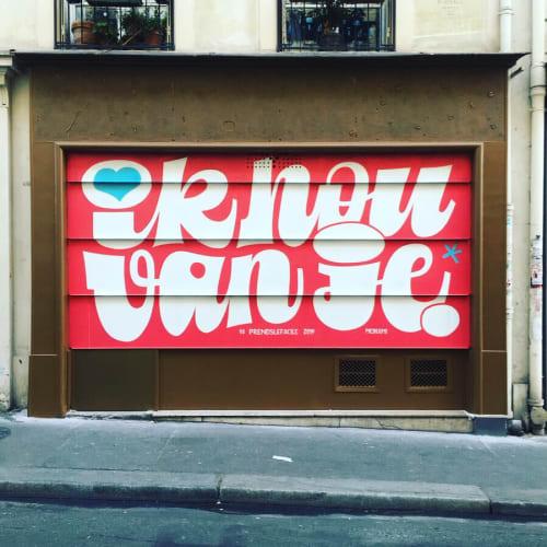 Murals by PRENDSLEFACILE seen at Rue Rodier, Paris - Mural