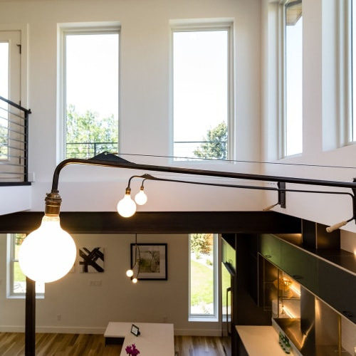Lamps by Southern Lights Electric seen at Private Residence, Denver - Potence Swing Arm Lamp