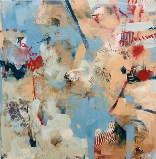 "Paintings by Anne Bedrick Fine Art seen at 68895 Perez Rd, Cathedral City - ""Carnival By the Sea"""