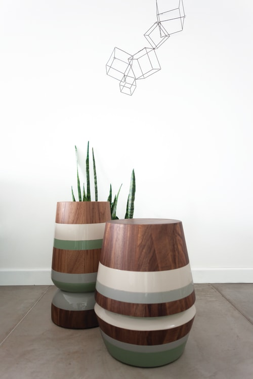 Tables by Labrica seen at Labrica Design Studio, Oakland Park - Capirucho Drink Table and Side Table-stool