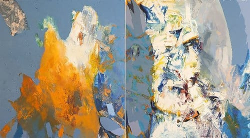 Paintings by John DiPaolo seen at Callan LLC, San Francisco - Reflector: Hanging Garden
