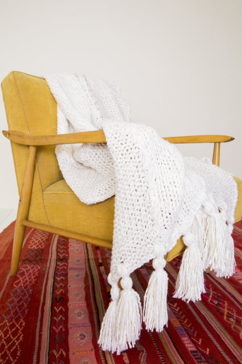 Linens & Bedding by bläanks seen at Private Residence, Longmont - Custom Throw Blanket