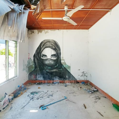 Street Murals by Stefania Gallina - MAPU Lab seen at Himmafushi - Inshalla - Personal Mural