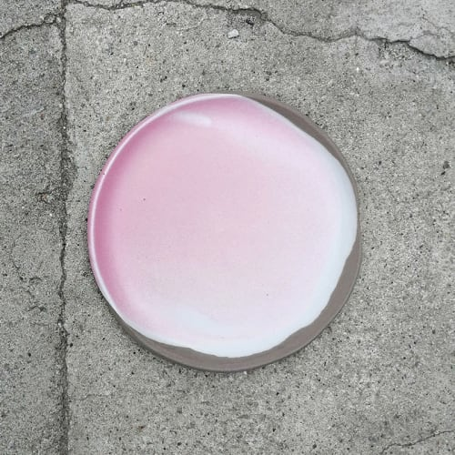 Ceramic Plates by Projectorium handmade ceramics seen at Creator's Studio, Kraków - Small plate – Cherry Blossom series