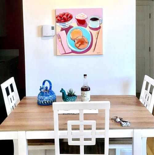 Paintings by Laurel Greenfield seen at Private Residence, Boston - Pancake Breakfast Painting