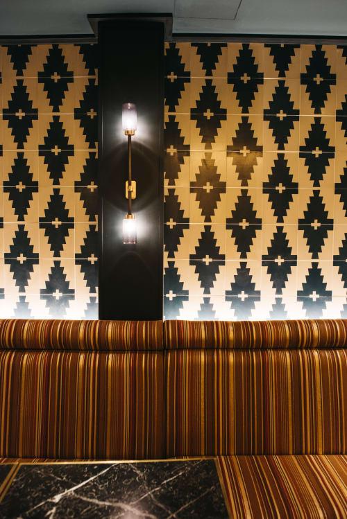Sconces by Bert Frank at Bangalore Restaurante, Madrid - Farol Wall Light - Smoked Glass