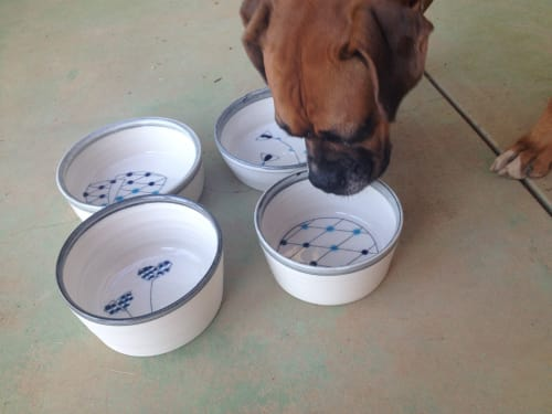 Tableware by Amy Halko Ceramics at Private Residence - Dog bowls