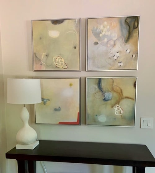 Paintings by Anne C. Faber seen at Private Residence, Winnetka - White Buddha