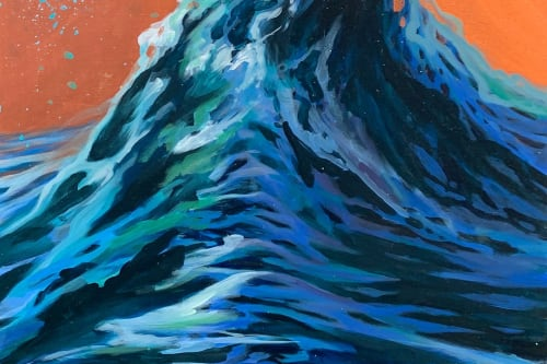 Paintings by Lindsey Millikan (Milli) seen at Creator's Studio, San Francisco - Ocean #23