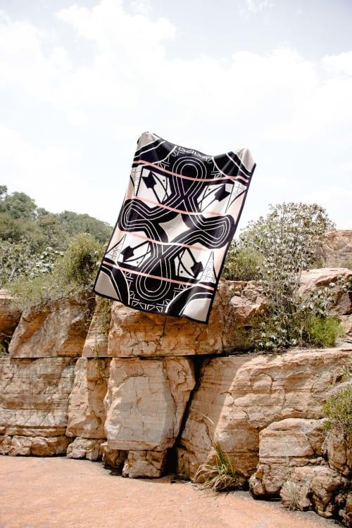 Linens & Bedding by SOMETHING GOOD STUDIO seen at Private Residence, Johannesburg - African blanket: Custom designed for Kruger Shalati Lodge