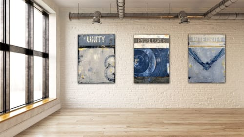 "Paintings by ERIN ASHLEY seen at Richardson, Richardson - Custom ""Core Values"" art work."