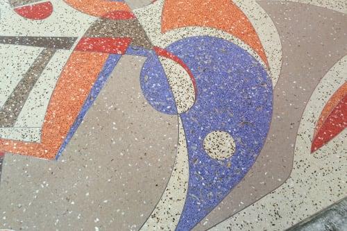 Public Mosaics by Murals by Georgeta (Fondos) seen at Lauderhill Performing Arts Center, Lauderhill - Terrazzo Floor