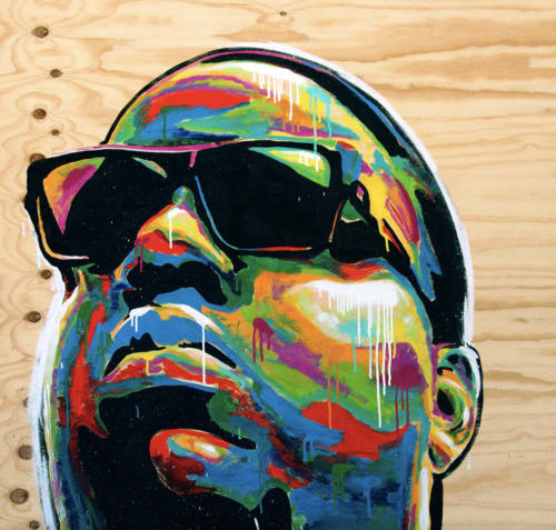 Paintings by INDO the Artist seen at Los Angeles, Los Angeles - Notorious B.I.G