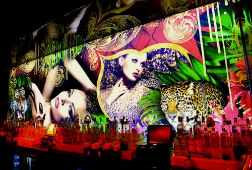 Murals by Amy Rader seen at Compound, Atlanta - Compound Nightclub