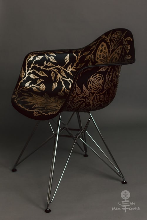 Embellished Eames Shell Armchair   Chairs by Sean Martorana