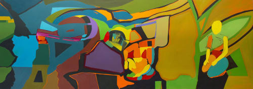 Paintings by Pamela Staker seen at Private Residence, Evanston - Contemporary Art Collection - Private Residence