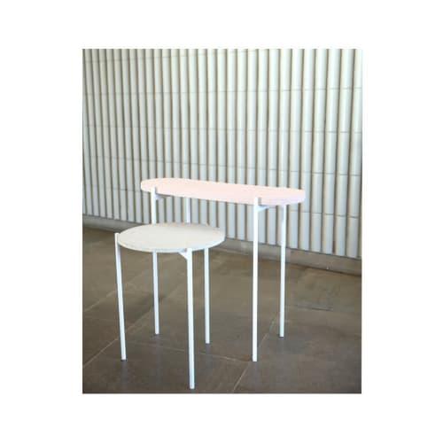 Tables by Studio Ekin Kayis seen at Aalto University, Espoo - Ceramic Side Tables