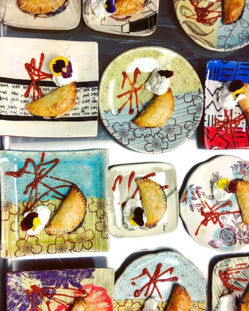 Ceramic Plates by Lauren Karle seen at Heidi's Raspberry Farm, Albuquerque - Custom Plate