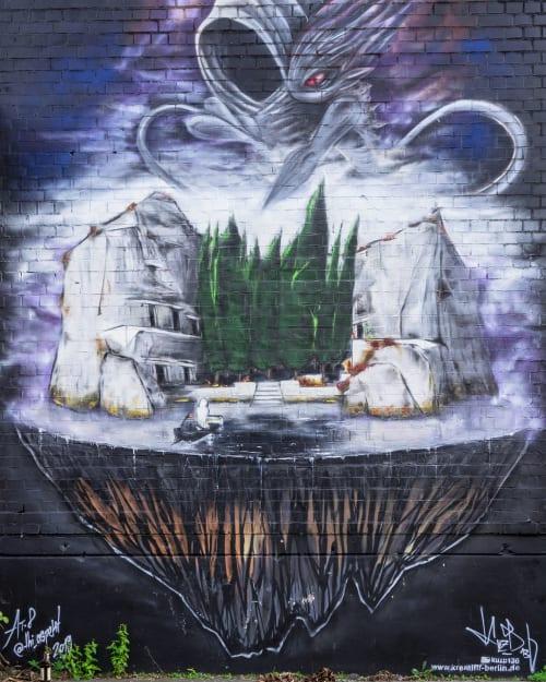 Street Murals by KUZB136 seen at Teufelsseechaussee 10, Berlin - The dead island 3.1