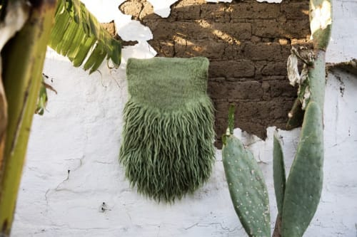 Wall Hangings by Taiana Giefer seen at Private Residence, Los Angeles - Seed No.099: The Green Story
