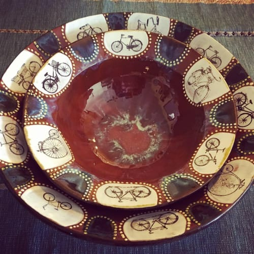 Tableware by Elemental Artworks - handmade pottery by Rena Hamilton seen at Private Residence, Columbus - Serving Bowls