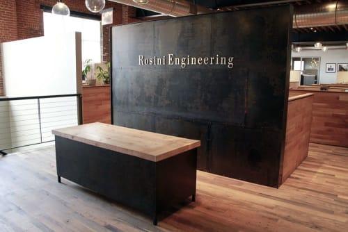 Furniture by Michael Daniel Metal Design seen at Rosini Engineering, PC, Queens - Custom Office Furniture