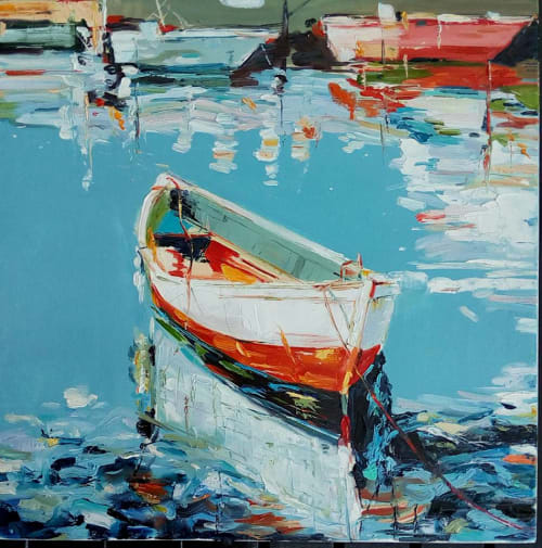 Paintings by Iryna Baklanova seen at Private Residence, Berlin - Boats