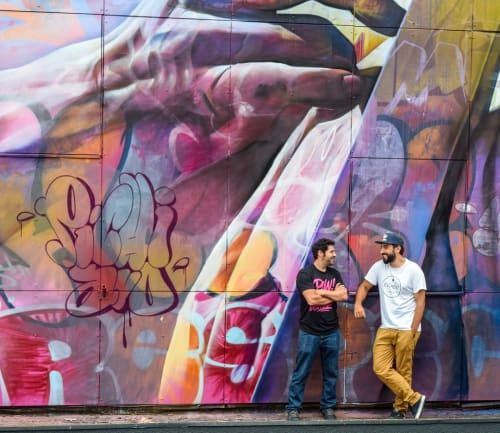 Murals by PichiAvo seen at Quatro Cinema, Heerlen - Wall Mural
