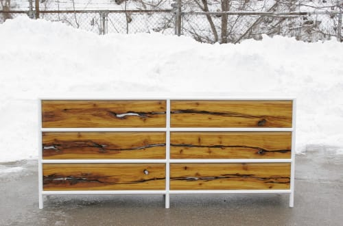 Furniture by Long Grain Furniture seen at Creator's Studio, Omaha - Osage Orange 6-Drawer Dresser