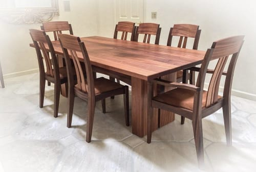Furniture by Able Fine Woodworking seen at Private Residence, Bend - Corral de Tierra Dining Set