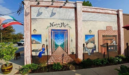 Murals by Be Free Artistry seen at Asheville, Asheville - Nona Mia