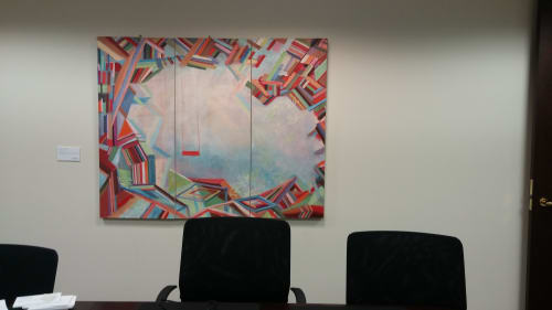 Paintings by Nedret Andre seen at Lando & Anastasi LLP: Myers Louie, Cambridge - Manatee Swing