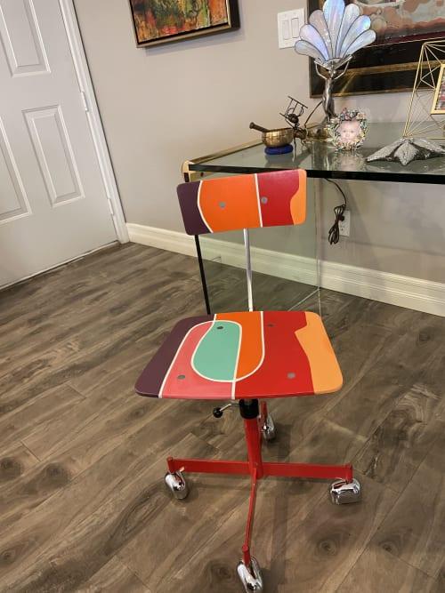 Paintings by Niki J Sands seen at Creator's Studio, Las Vegas - jorgen rasmussen Kevi task desk chair Rare child size