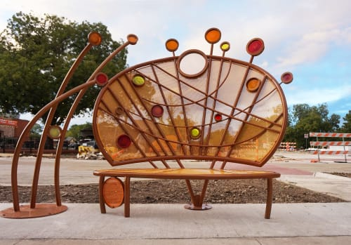 Public Sculptures by May & Watkins Design seen at Private Residence, Lewisville - Benchmark