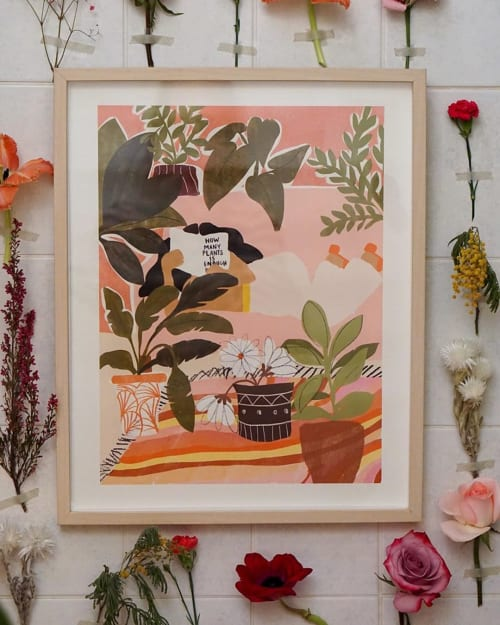 Paintings by Alja Horvat seen at Private Residence, Mount Pleasant - Never Enough Plants