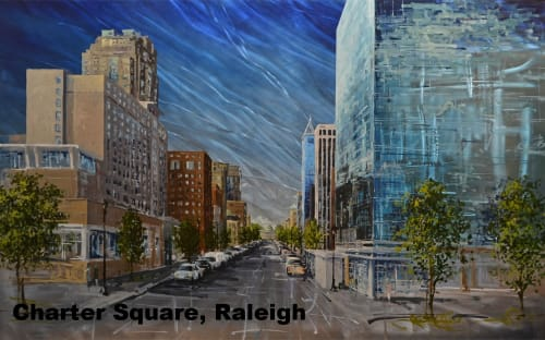 Paintings by Harris Design Studios seen at Charter Square, Raleigh - Charter Square Commission