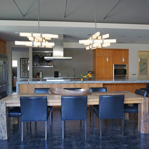 Chandeliers by Ron Dier Design seen at Private Residence, Santa Ana, CA, Santa Ana - Selenite Chandelier