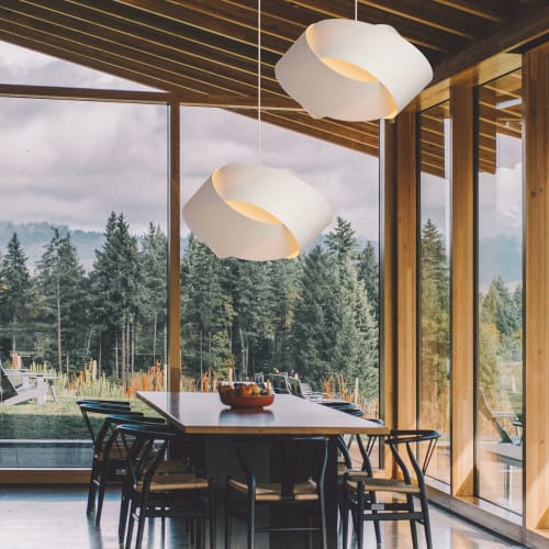 Pendants by Wood Lighting Design seen at Private Residence, Portland - SERENE