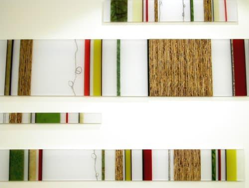 Public Art by Marcia Stuermer/Stuermer Studios seen at Visa Global HQ, Foster City - Cellular Barcode Installation