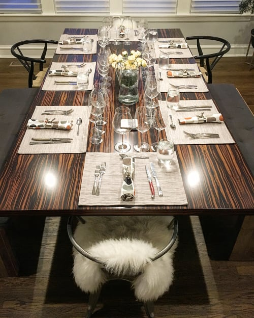 Tables by Rohan Ward seen at Private Residence, Chicago - Custom Dining Table