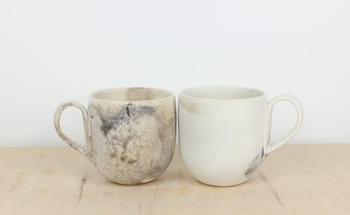 Cups by caroleneilsonceramics seen at Private Residence, San Francisco - Smoky white cups