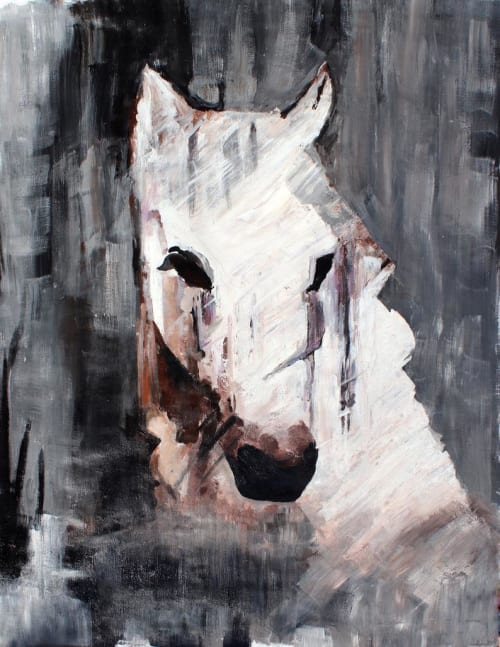 Queen Horse - Oil Painting on Canvas   Paintings by Irena Orlov