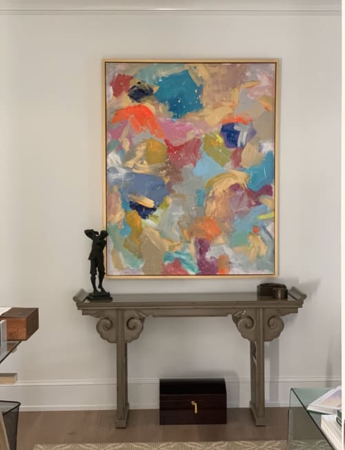 Paintings by Carol Calicchio Art Studio seen at Private Residence, Gulf Stream - Springtime in Connecticut