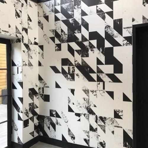 Wallpaper by Merenda Wallpaper seen at Dobbin Street, Brooklyn - Disintegration