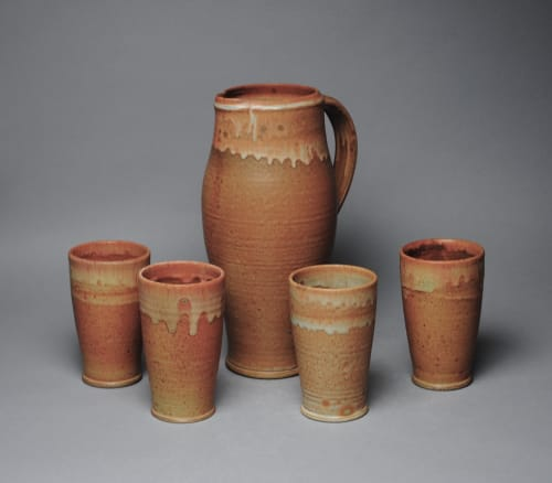 Tableware by John McCoy Pottery seen at Creator's Studio, West Palm Beach - Pitcher and Tumbler set